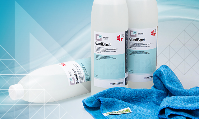 Sanibact for deep disinfecting level cleaning